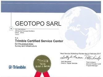Certification Trimble pour site Geotopo Gleize